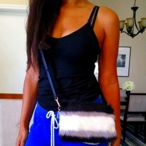 Color Block Furry Bag